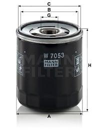 Öljynsuodatin MANN-FILTER W 7053