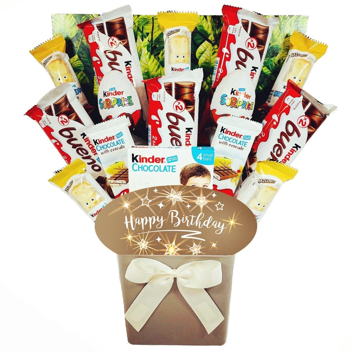 The Happy Birthday Kinder Chocolate Bouquet