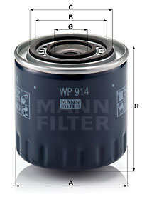Öljynsuodatin MANN-FILTER WP 914