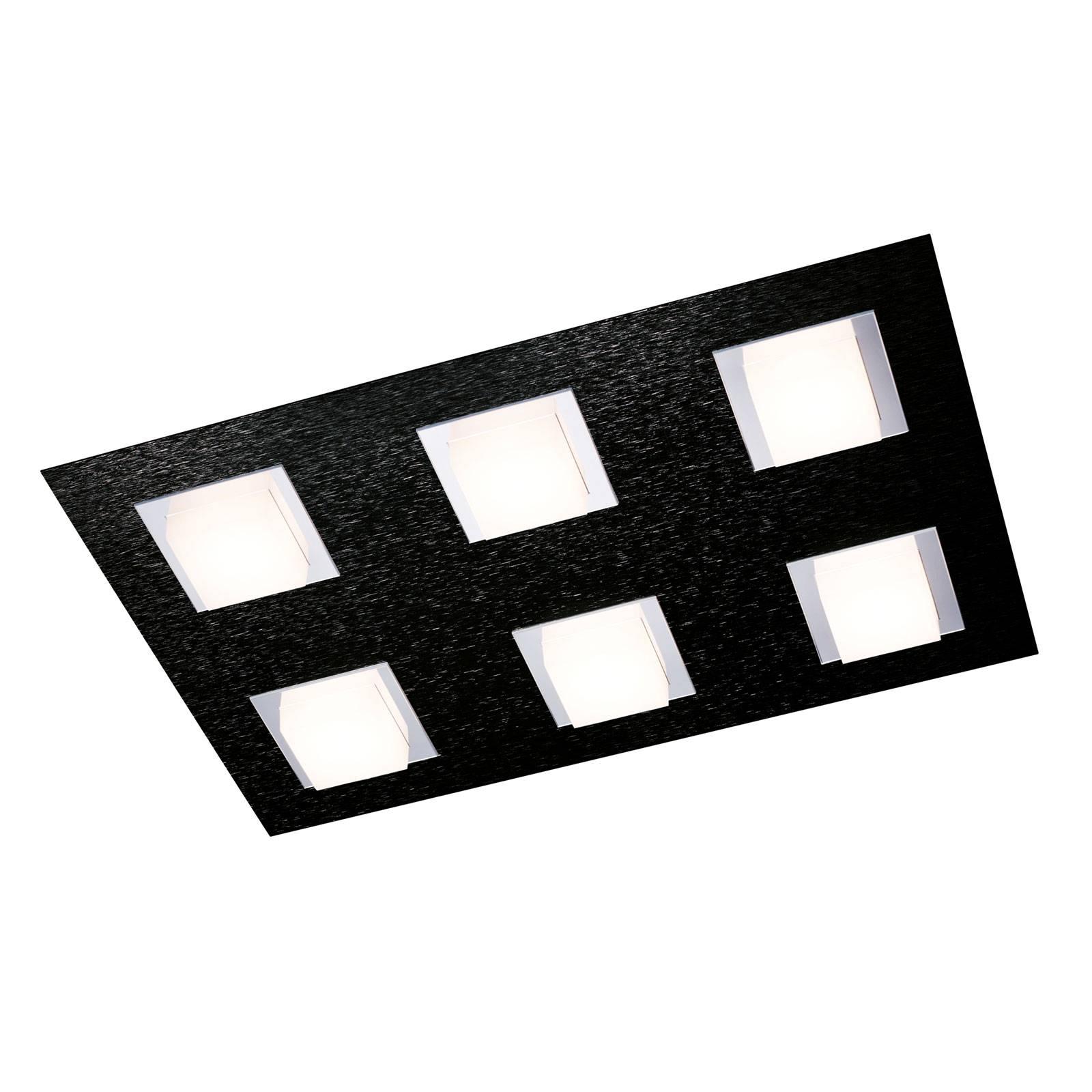GROSSMANN Basic -kattovalaisin 6-lamppuinen musta