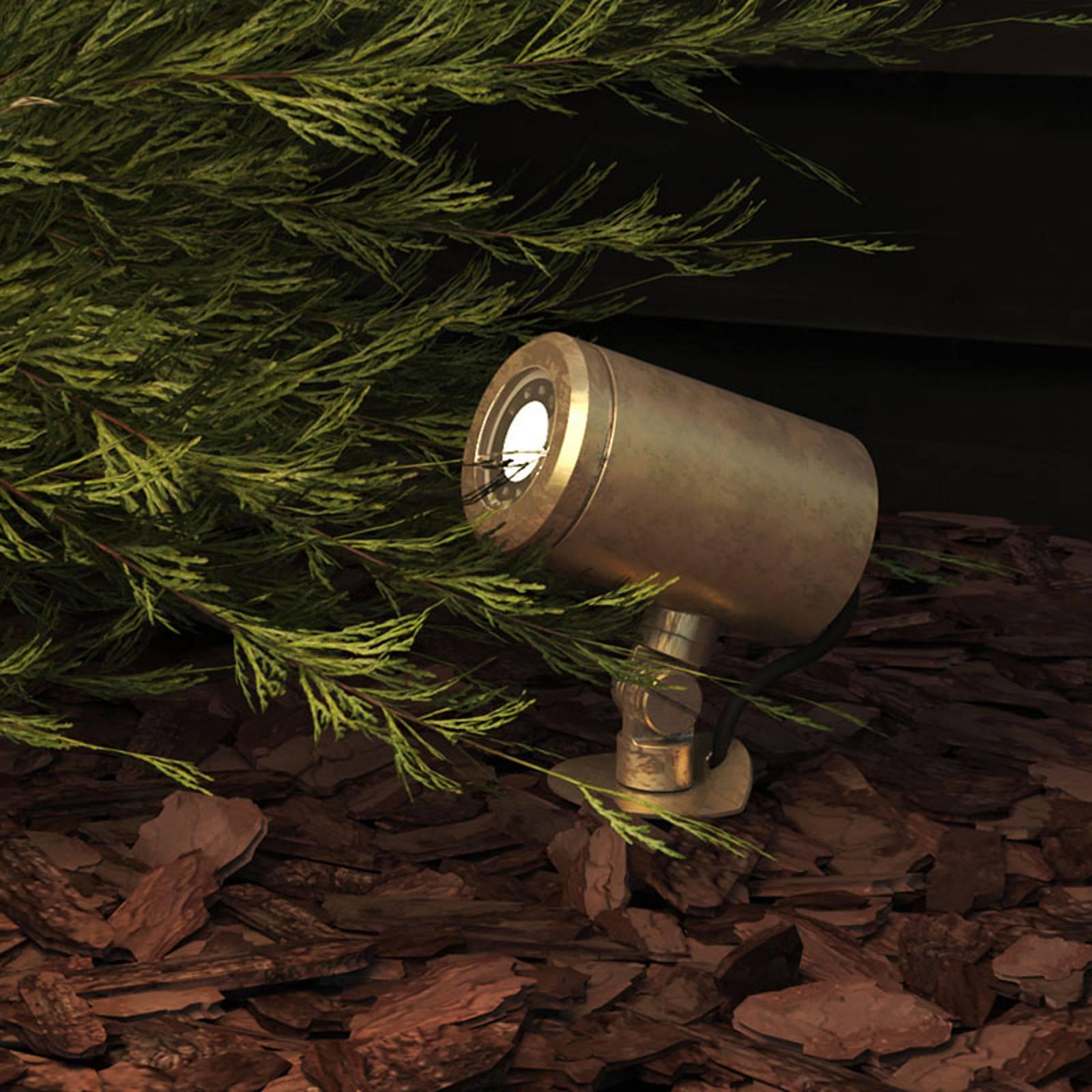 Astro Jura Spike Spot-maapiikkikohdevalo, messinki
