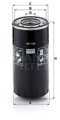 Öljynsuodatin MANN-FILTER WP 1169