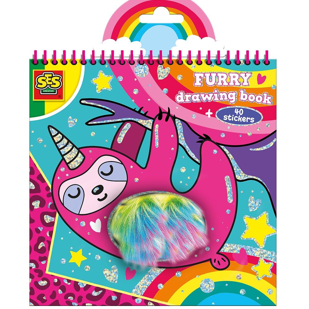 SES Creative - Furry colouring book (S00112)