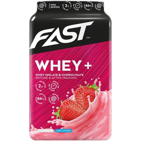 """Proteinpulver """"Whey +"""" Jordgubb 600g - 84% rabatt"""