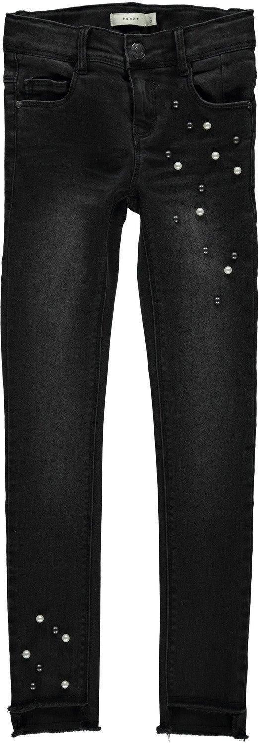 Name it Polly Belise Ancle Cut Jeans, Black Denim 116