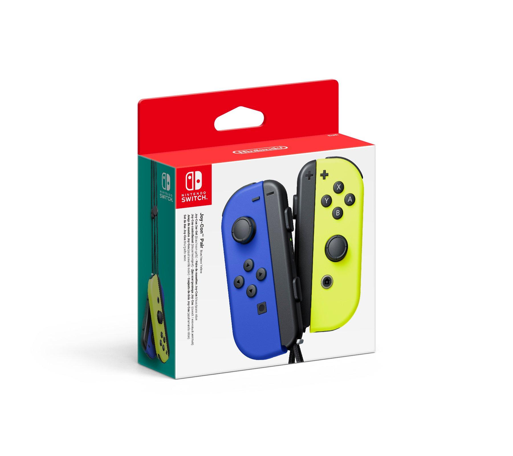 Nintendo Switch Joy-Con Controller Pair - Blue (L) & Neon Yellow (R)