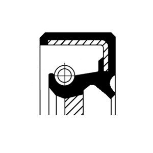 Oljepackningsring, automattransmission, Framaxel, Höger, Utgång