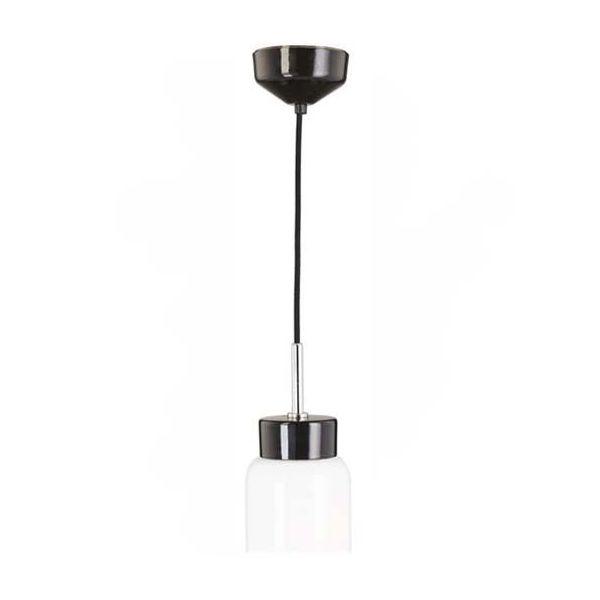 Ifö Electric Tova Pendelarmatur opal, svart/svart