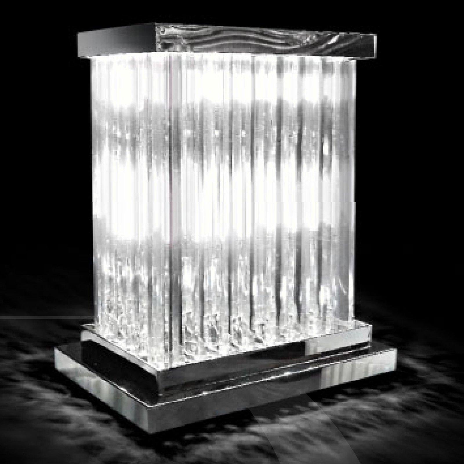 Strålende krystallbordlampe Dorico