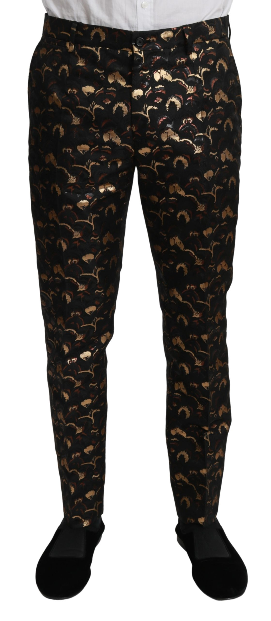 Dolce & Gabbana Men's Metallic Dress Trouser Black PAN70964 - IT44 | XS