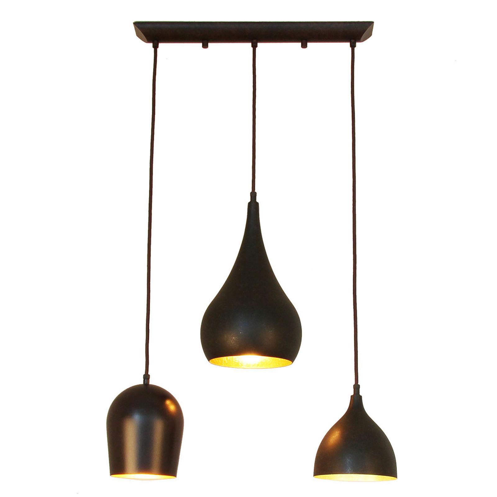 Menzel Solo -riippuvalo, 3-lamppuinen