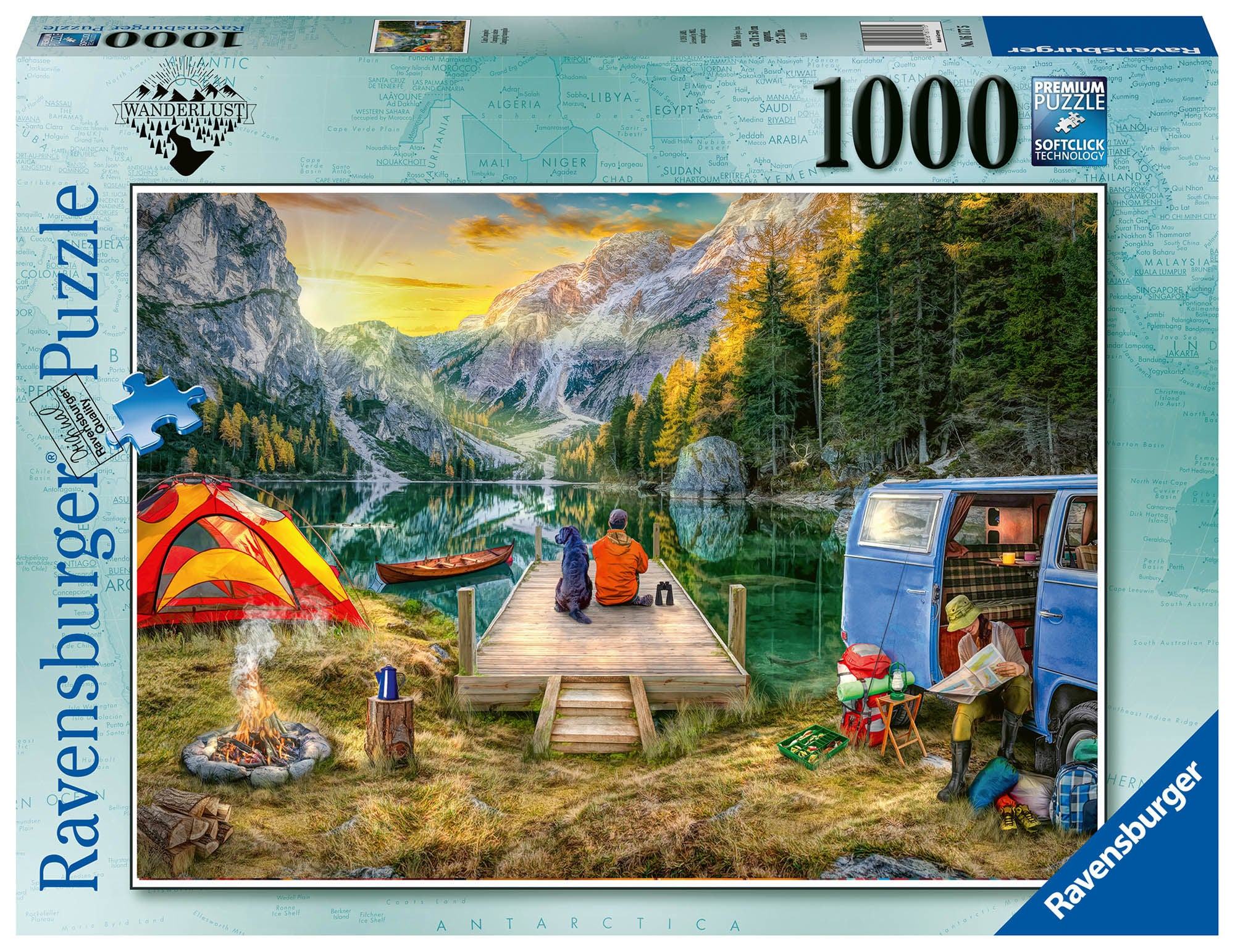 Ravensburger Pussel Lugn Campingplats 1000 Bitar