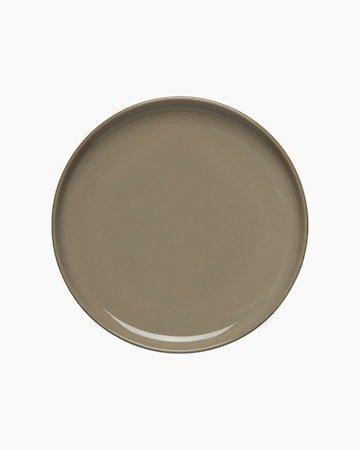 Oiva Tallerken Brun 13,5 cm