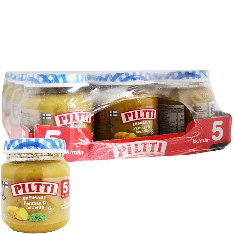 """Laatikollinen Lastenruokaa """"Perunaa & Herneitä"""" 12 x 125g - 24% alennus"""