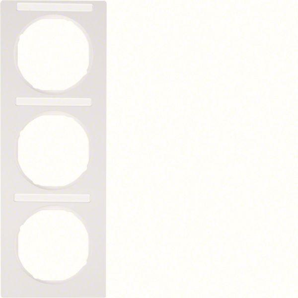 Hager 10132269 Peitekehys 3-paikkainen, Berker R.3 Valkoinen