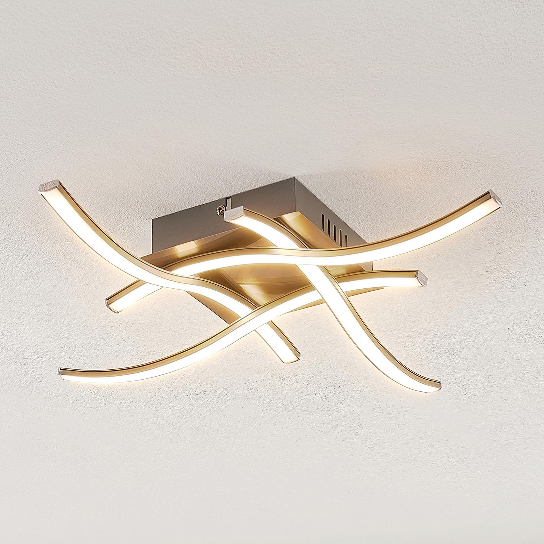 ELC Agostina -LED-kattovalaisin, nikkeliä