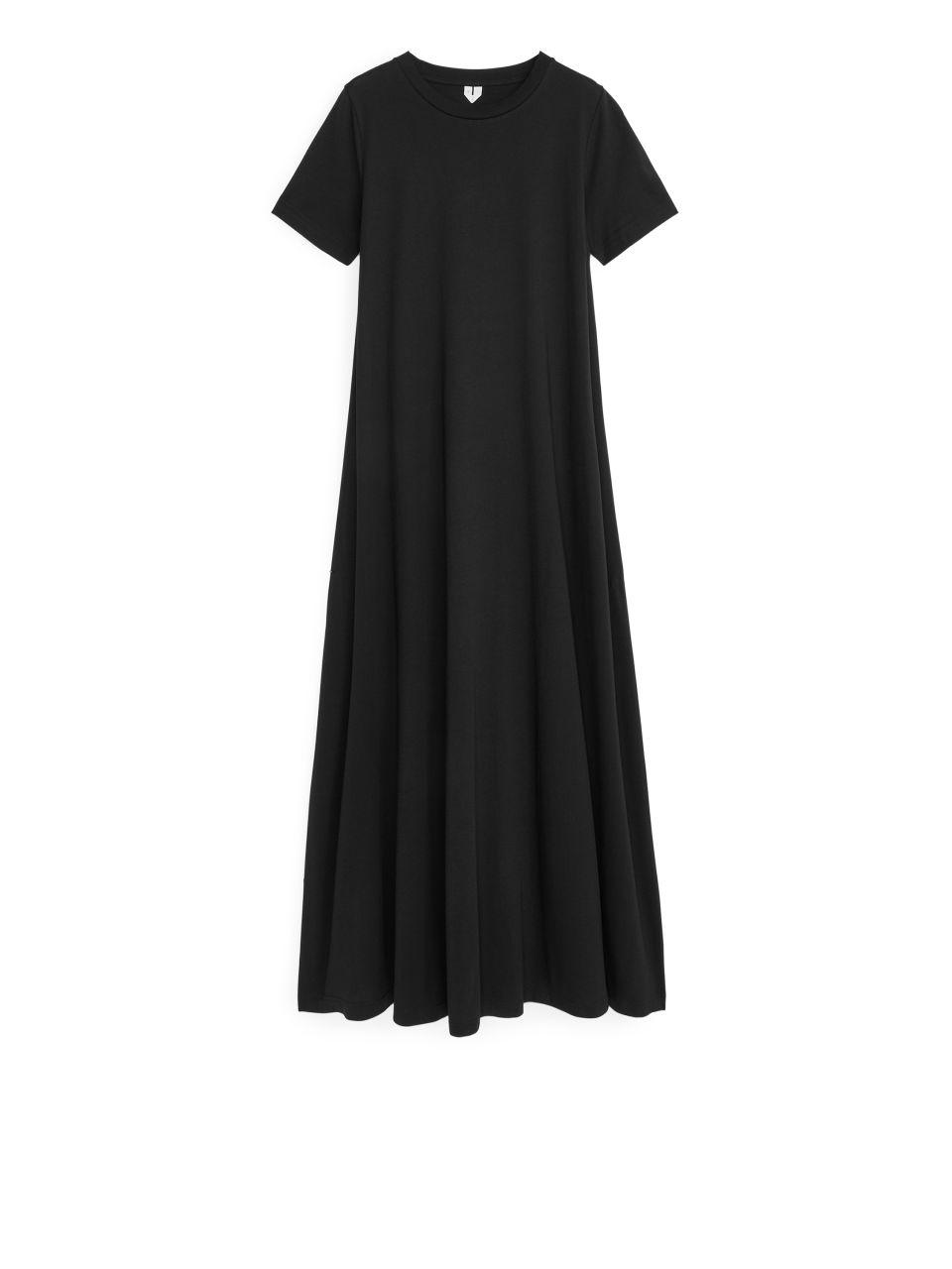 Long T-shirt Dress - Black
