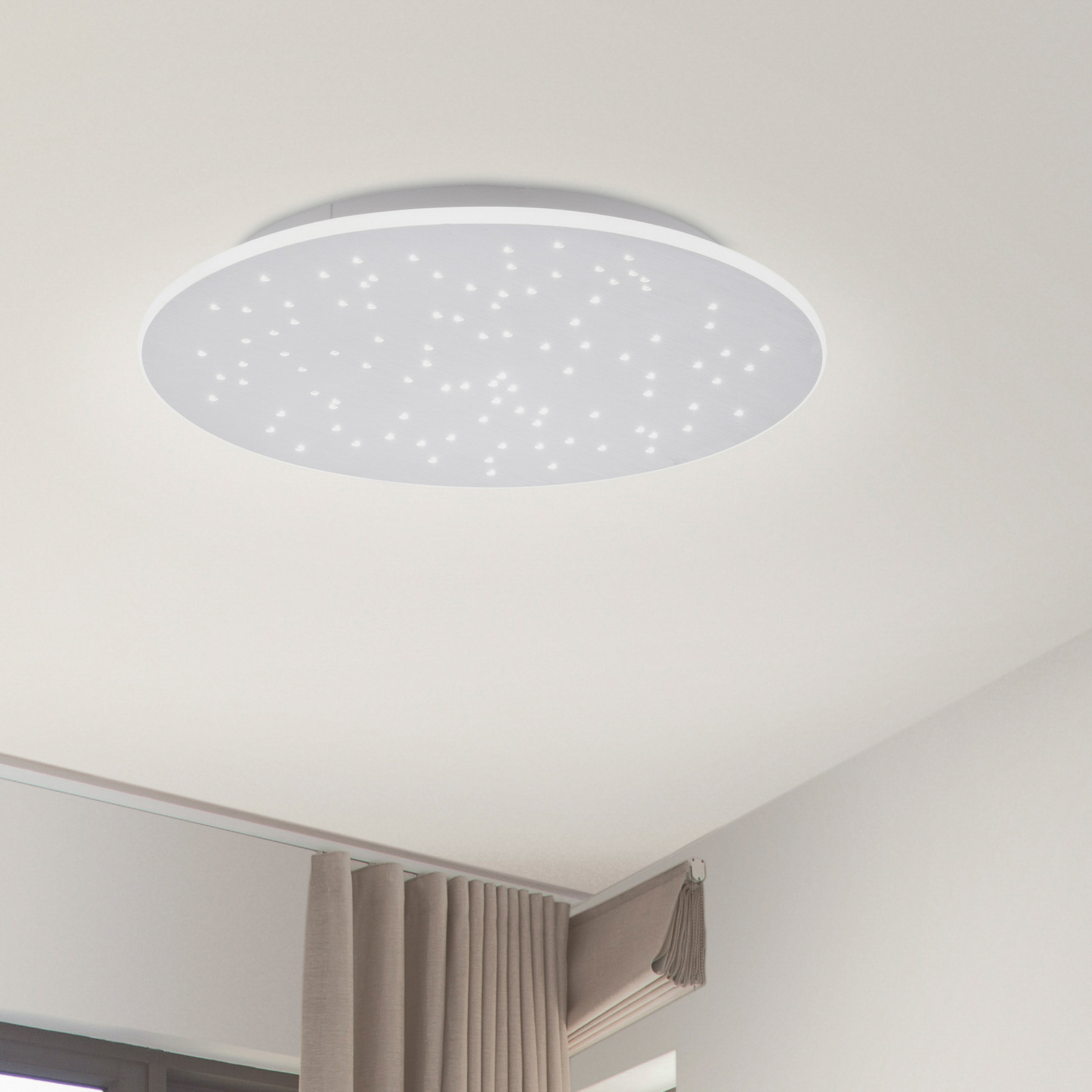 Paul Neuhaus Q-NIGHTSKY -LED-kattovalaisin, pyöreä
