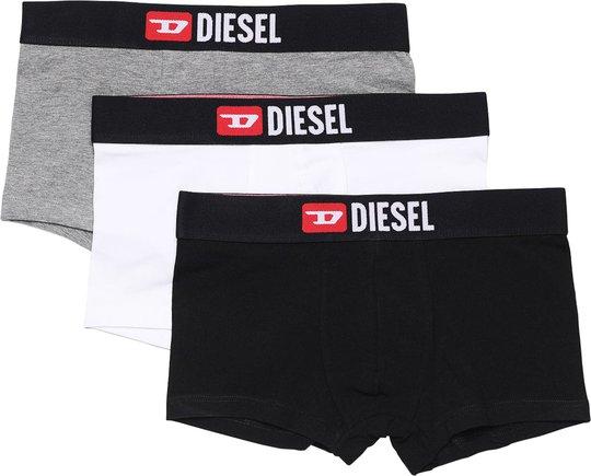 Diesel UMBX Damien Boksershorts 3-Pack, Black/White/Grey Melange 10 År
