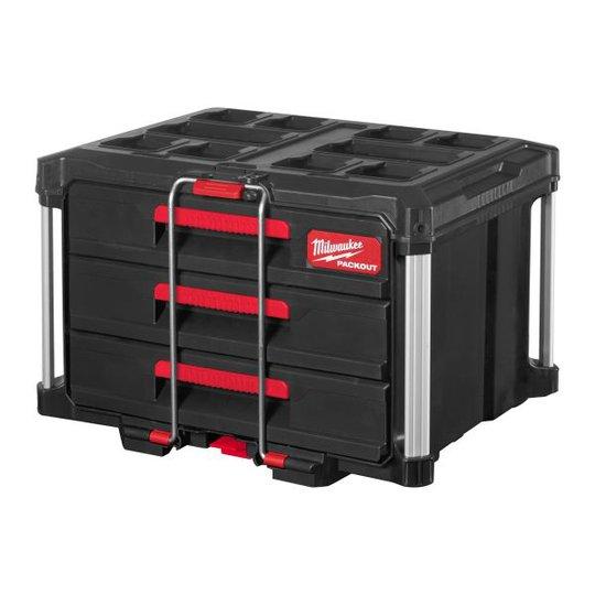 Milwaukee PACKOUT 3 DRAWER TOOL BOX Säilytyslaatikko kolme laatikkoa
