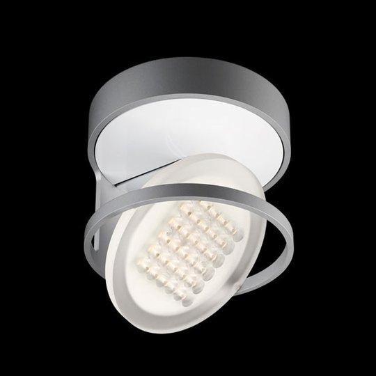 Nimbus Rim R 36 LED-kattovalaisin, huurrettu hopea