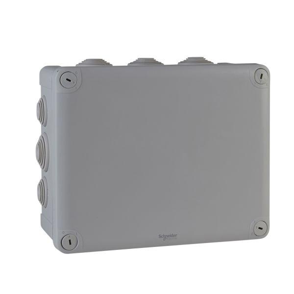 Schneider Electric ENN05013 Kytkentärasia harmaa, ruuvikansi 225x175x100 mm