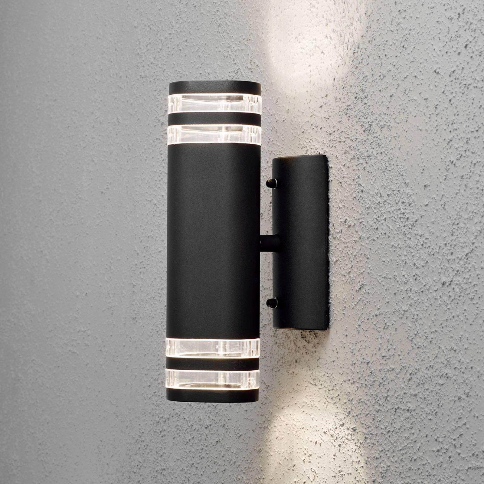 Modena utendørs vegglampe, 2 lyskilder, svart