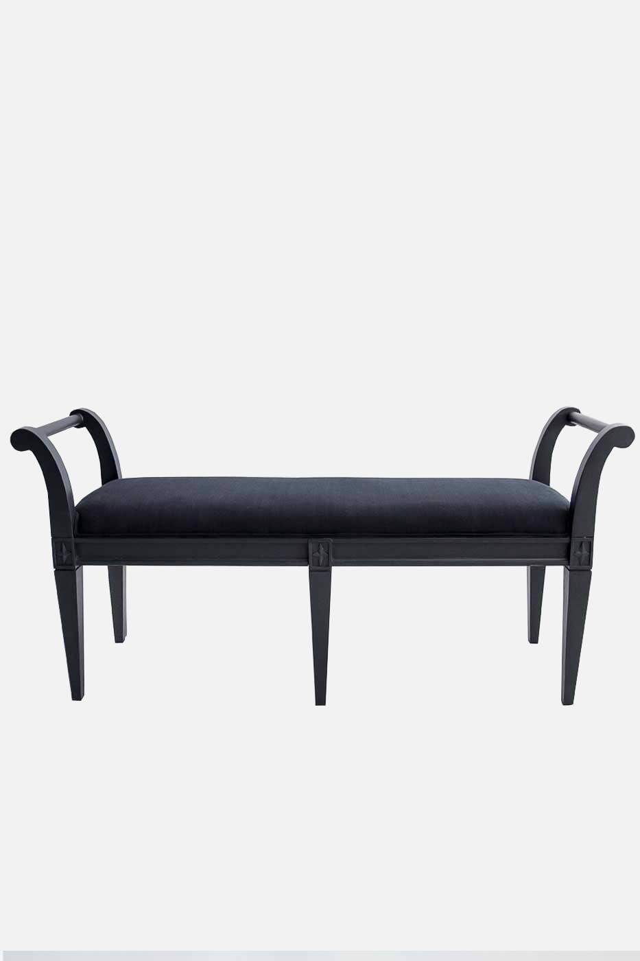 Bänk taburett 120 cm svart