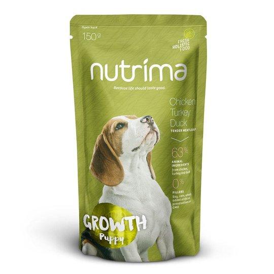Nutrima Growth Puppy Kyckling, Kalkon & Anka 6 x 150 g