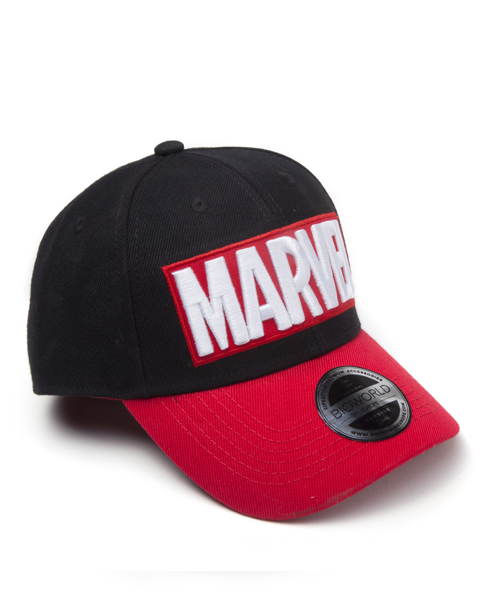 Marvel - Red Brick Logo Curved Bill Cap (One-size)
