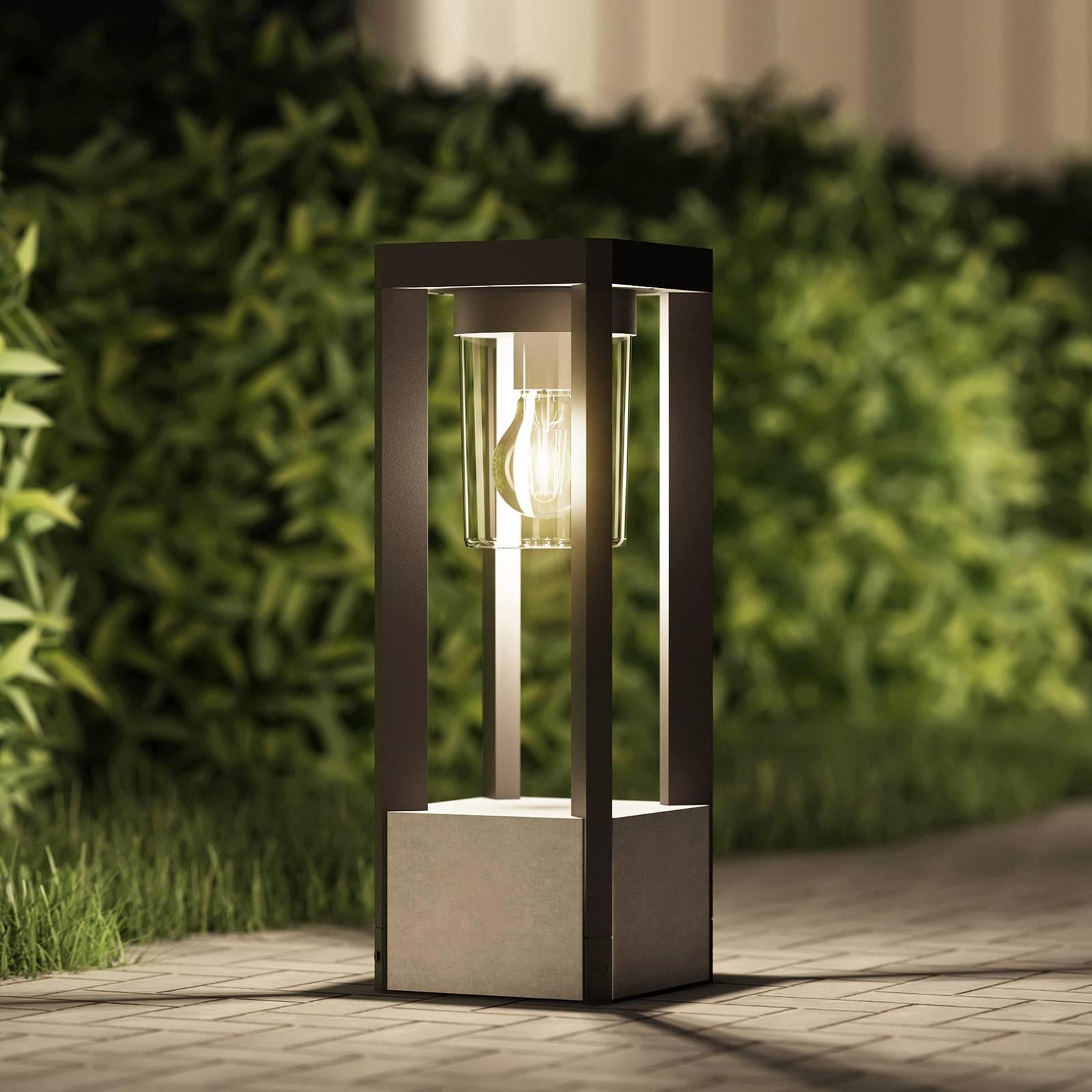 Lucande Kalisa -pollarilamppu, kulmikas, E27