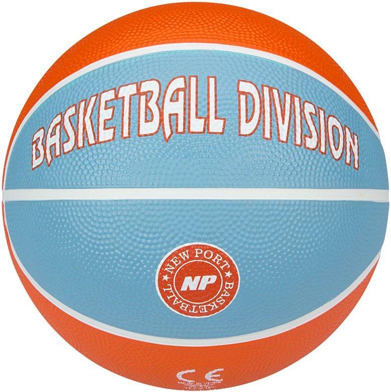 New Port Basketboll Storlek 3, Orange/Ljusblå