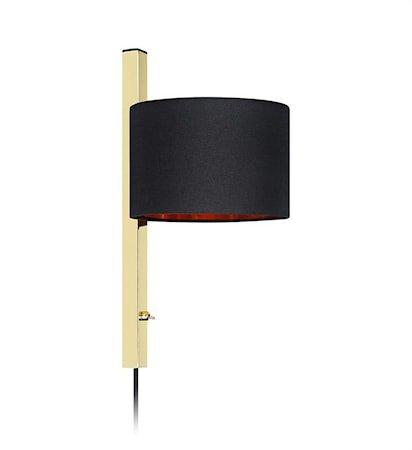 Pullman Vegglampe 1L Brass/Black