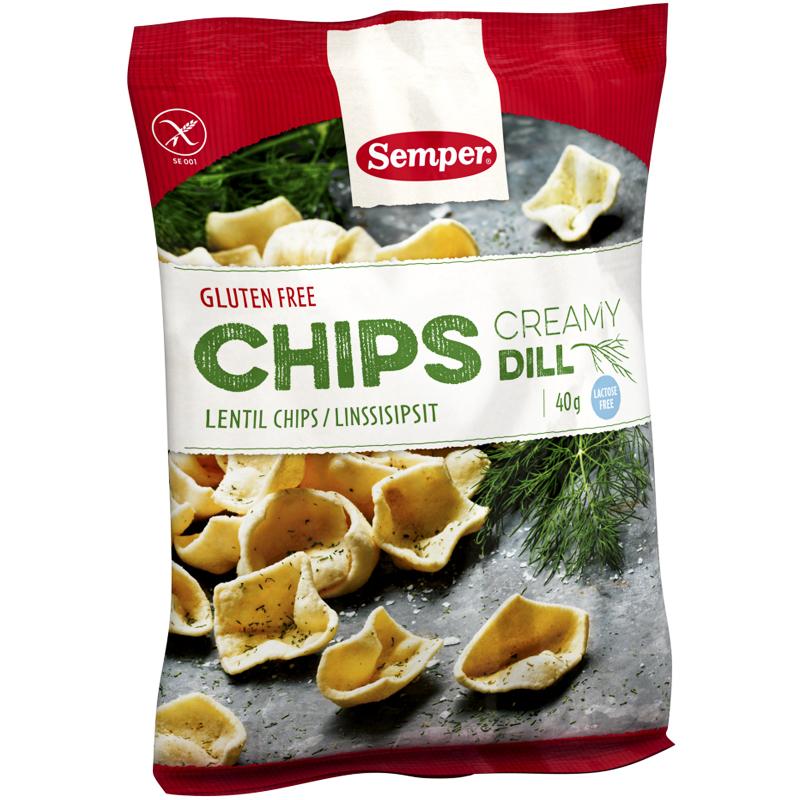 """Linschips """"Creamy Dill"""" 40g - 33% rabatt"""