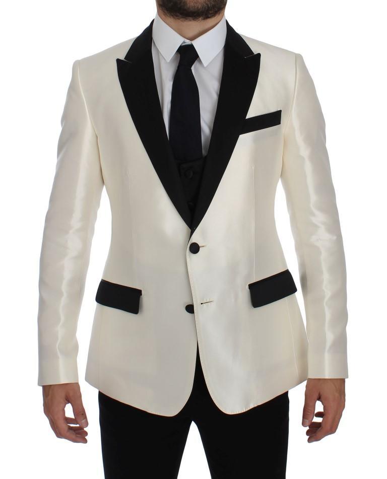 Dolce & Gabbana Men's Silk 2 Piece Blazer Black/White GTT10101 - IT50   L
