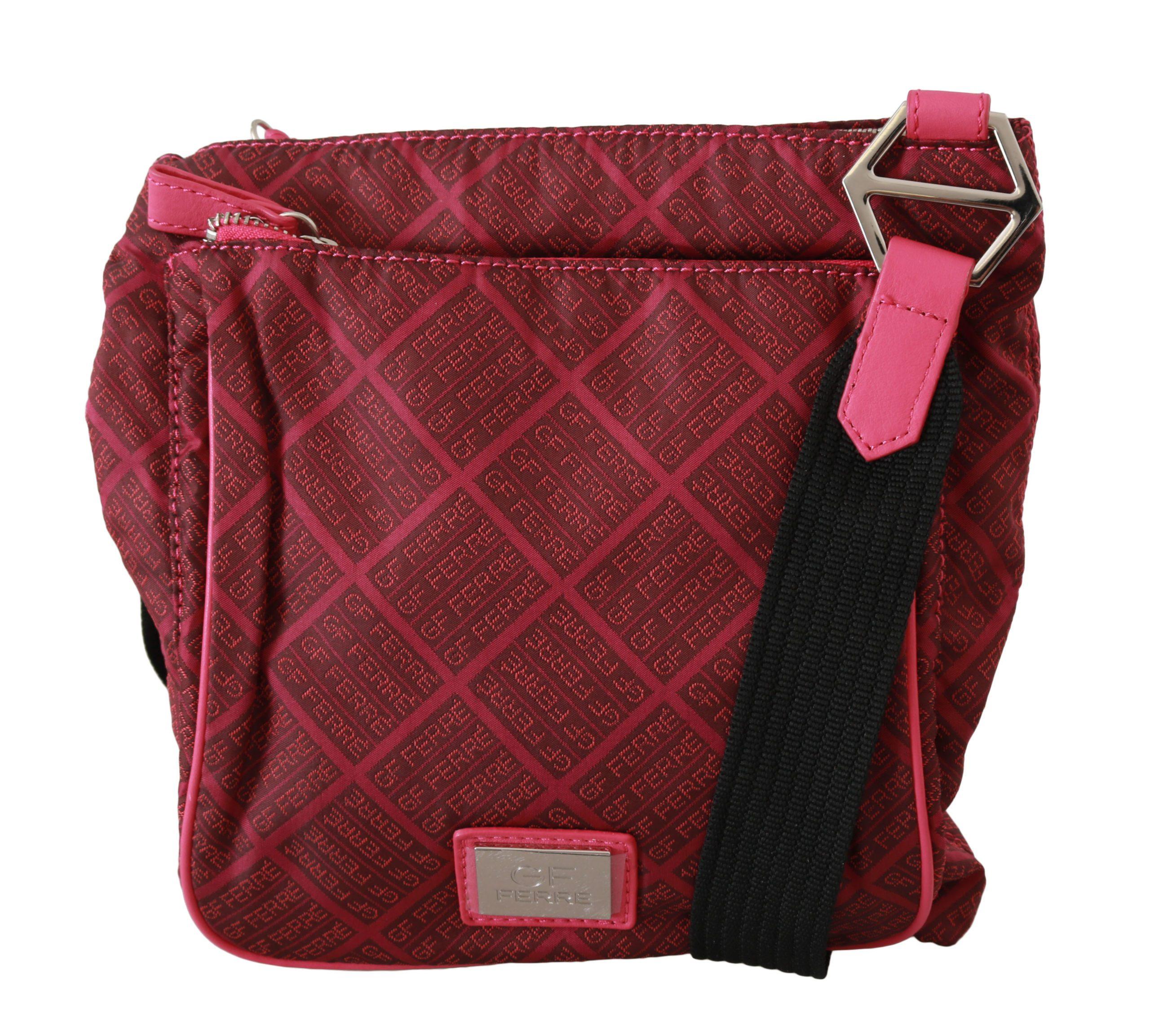 GF Ferre Women's Printed Fabric Shoulder Bag Pink VAS9191