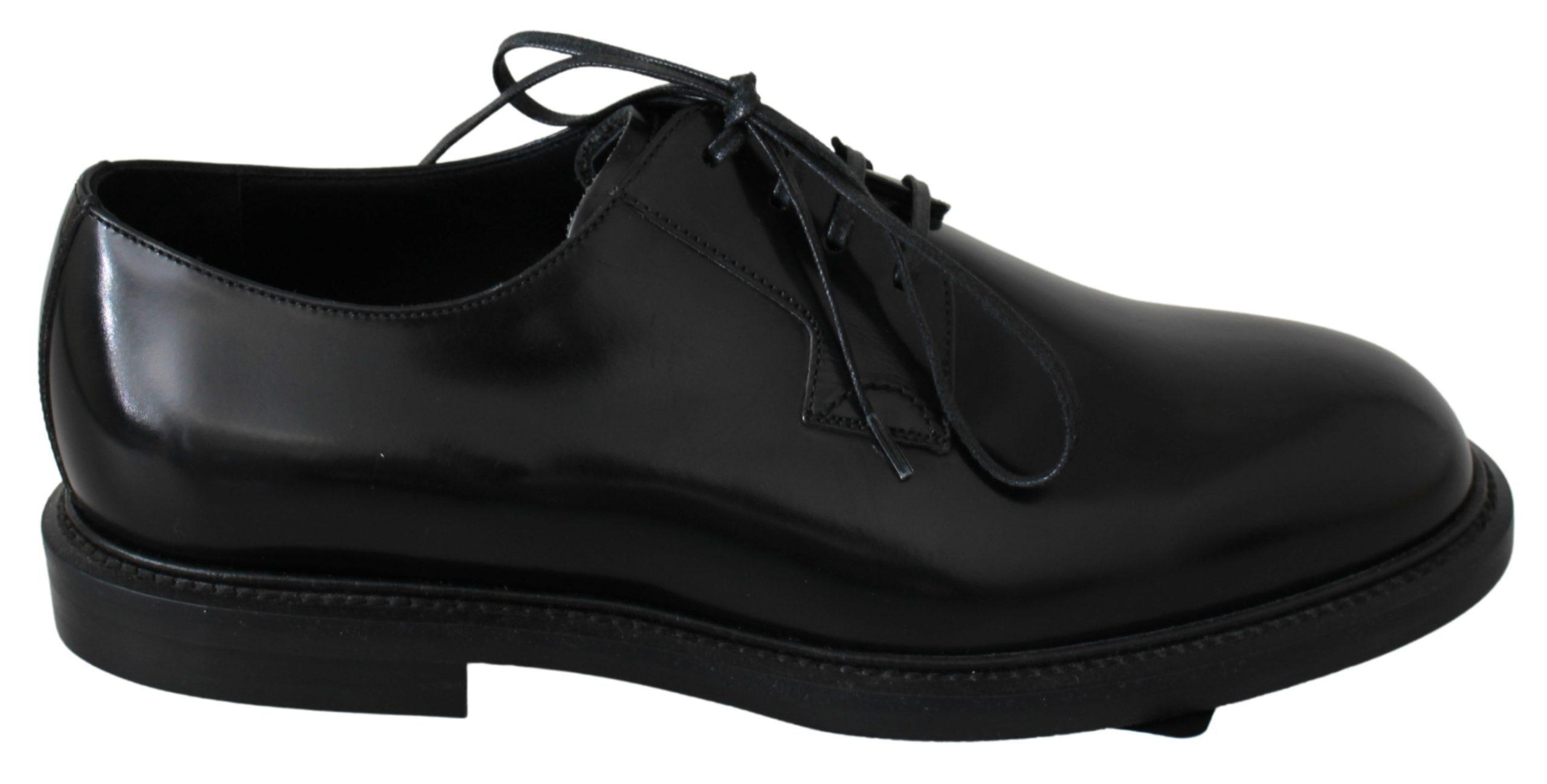 Black Leather Derby Dress Formal Mens Shoes - EU39/US6