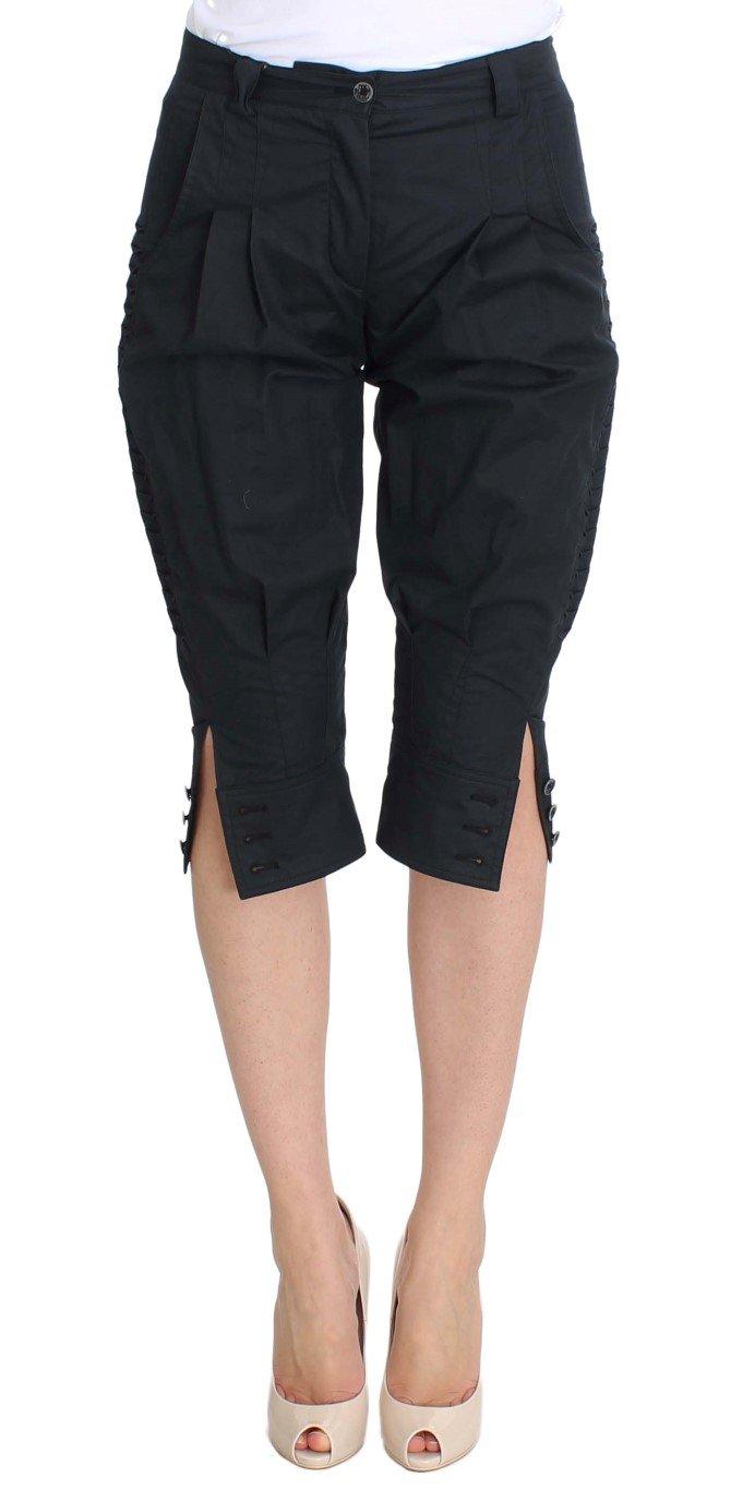 Ermanno Scervino Women's 3/4 Length Trouser Blue SIG30377 - IT38 XS