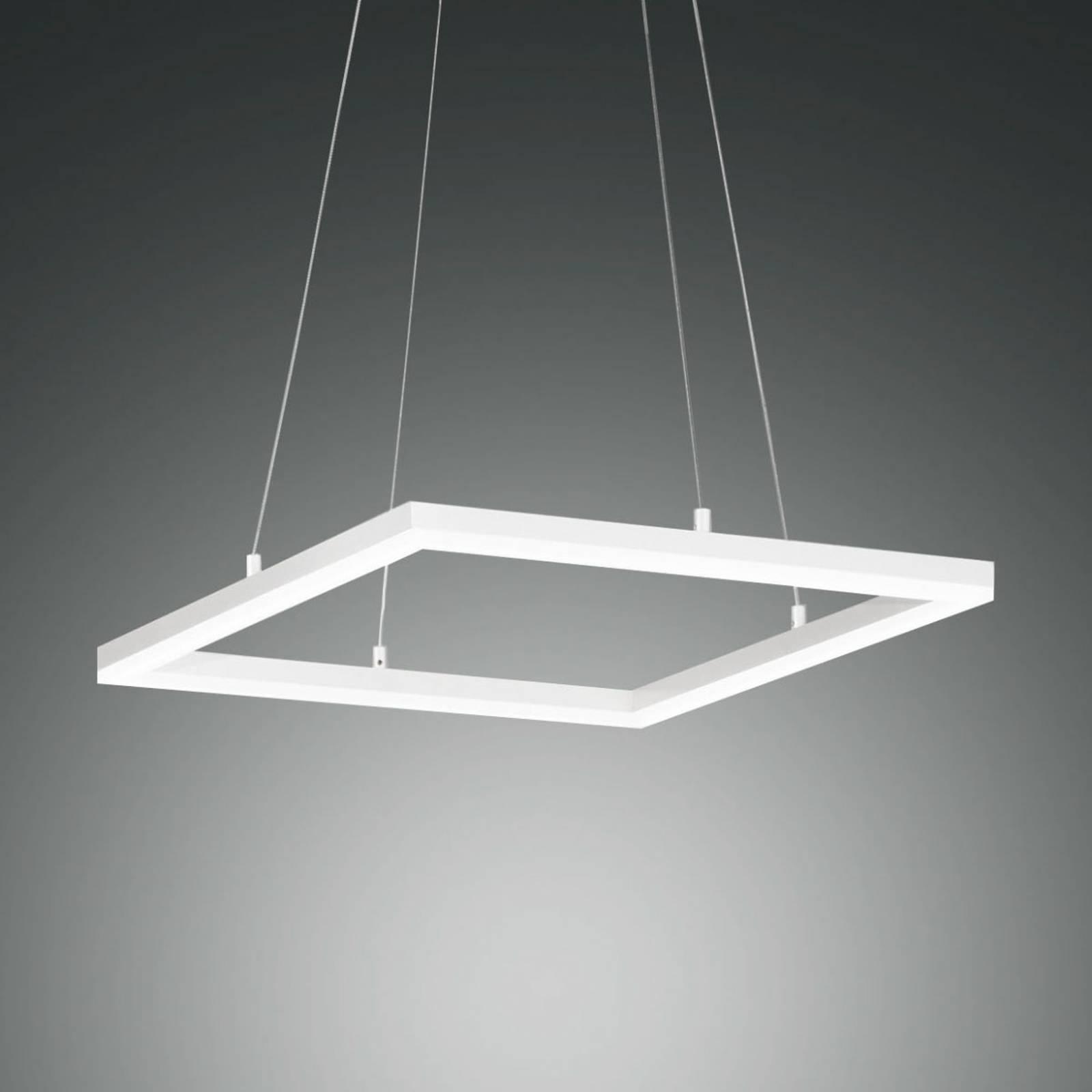 LED-riippuvalaisin Bard, 42x42cm valkoinen