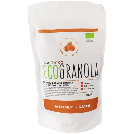 "Eko Granola ""Hazelnut & Dates"" 320g - 47% rabatt"