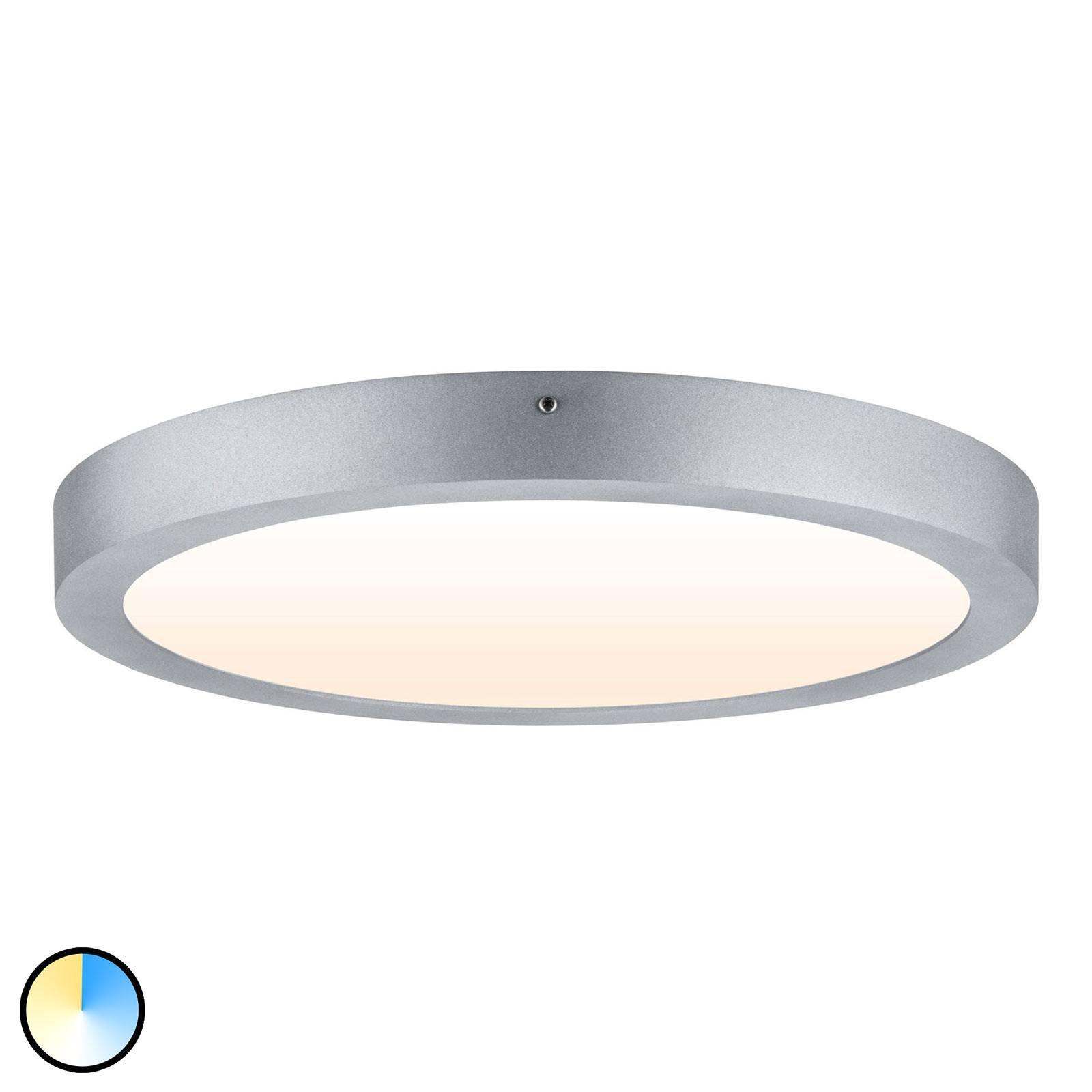 Paulmann Carpo LED-taklampe rund krom 40 cm