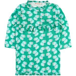 Marni Floral Long Sleeve Klänning Grön 4 år