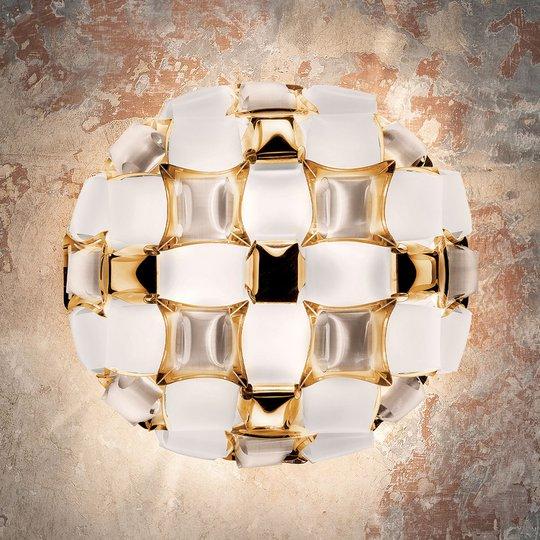 Slamp Mida -seinälamppu, 50 cm, valkoinen-kulta