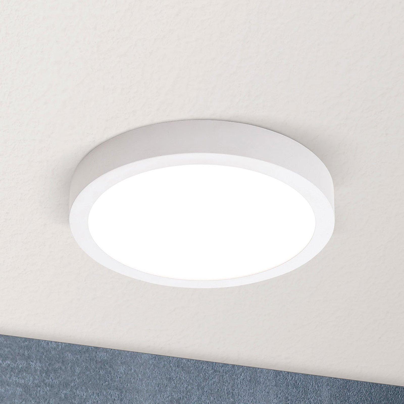 LED-taklampe Vika, rund, hvit, Ø 18cm