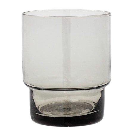 Lyslykt Grå Glass 7x8,5 cm