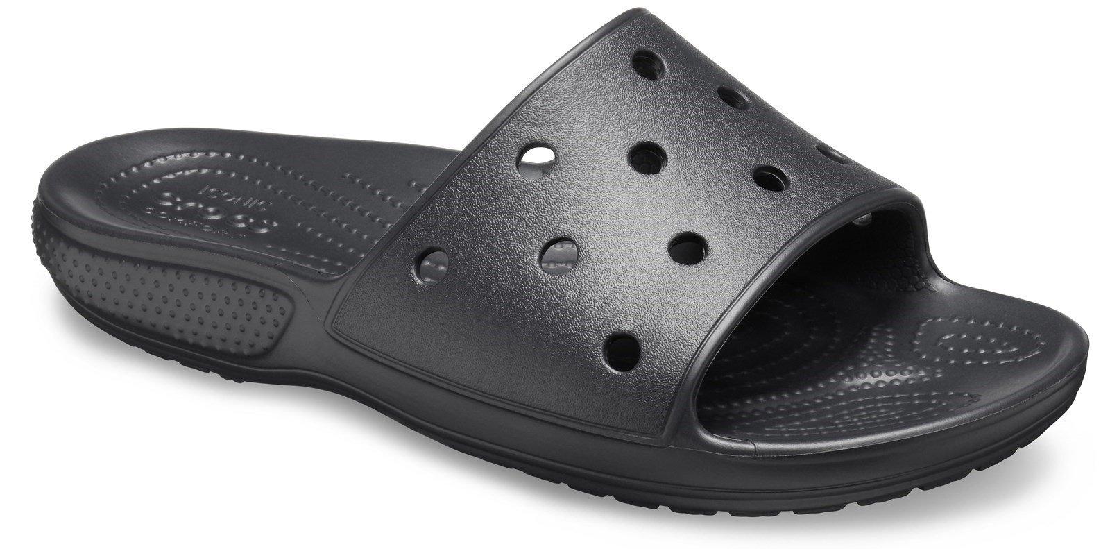 Crocs Unisex Classic Crocs Slide Sandal Various Colours 30608 - Black 3