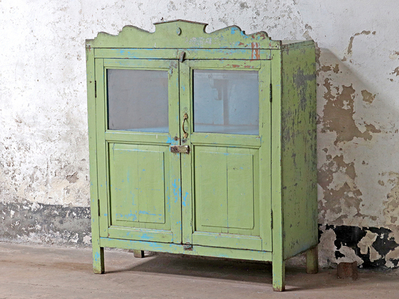Green Vintage Cupboard Green