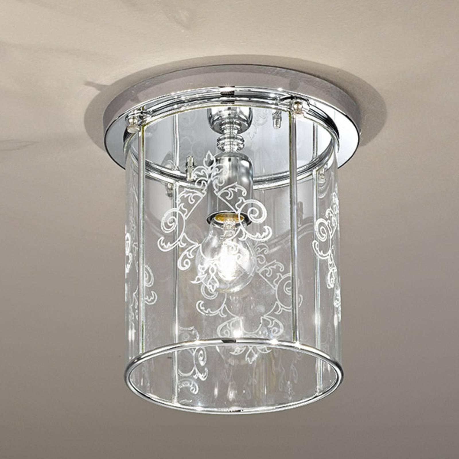 Greta-kattovalaisin, koristeltu kristallilasi