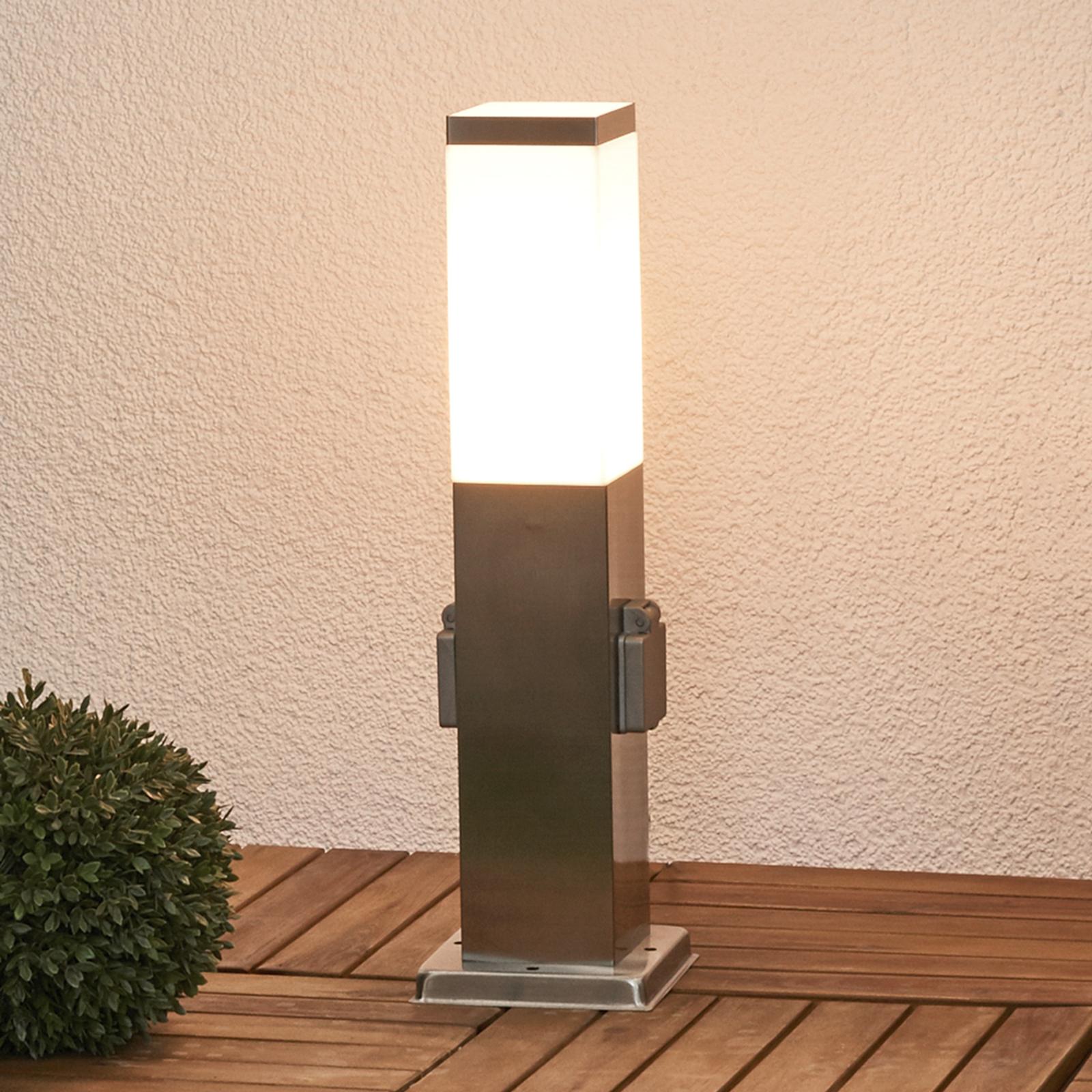 Lorian-sähkötolppa valaistuksella