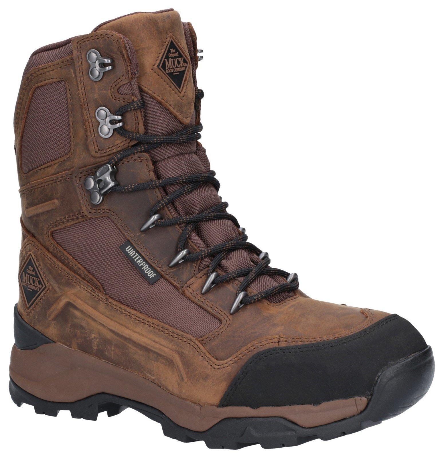 "Muck Boots Men's Summit 8"" Warm Weather Performance Boot Brown 27623 - Brown 12"